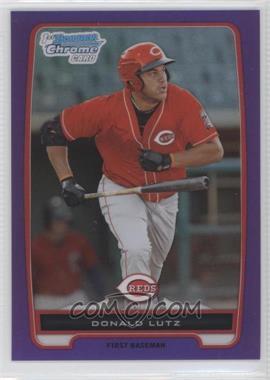 2012 Bowman - Chrome Prospects - Retail Purple Refractor #BCP125 - Donald Lutz /199