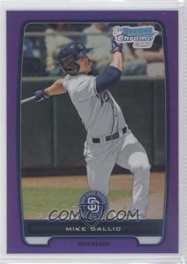 2012 Bowman - Chrome Prospects - Retail Purple Refractor #BCP149 - Mike Gallic /199