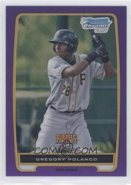 2012 Bowman - Chrome Prospects - Retail Purple Refractor #BCP182 - Gregory Polanco /199