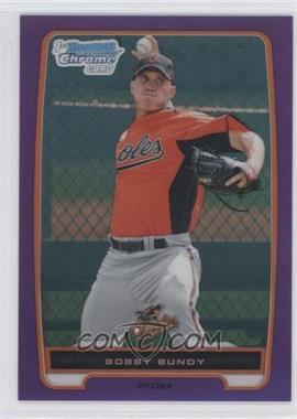 2012 Bowman - Chrome Prospects - Retail Purple Refractor #BCP198 - Bobby Bundy /199