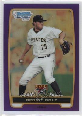 2012 Bowman - Chrome Prospects - Retail Purple Refractor #BCP86 - Gerrit Cole /199