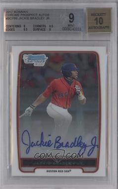 2012 Bowman - Chrome Prospects Certified Autographs - [Autographed] #BCP66 - Jackie Bradley Jr. [BGS9]