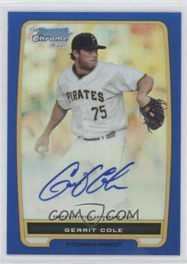 2012 Bowman - Chrome Prospects Certified Autographs - Blue Refractor [Autographed] #BCP86 - Gerrit Cole /150