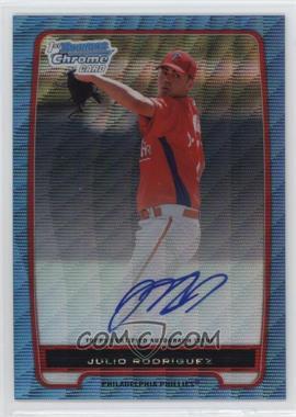 2012 Bowman - Chrome Prospects Certified Autographs - Blue Wave Refractor [Autographed] #BCP101 - Julio Rodriguez /50