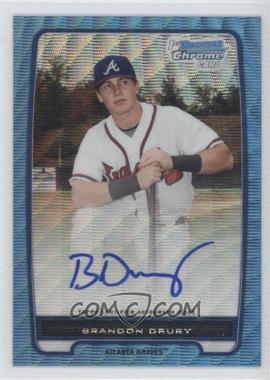 2012 Bowman - Chrome Prospects Certified Autographs - Blue Wave Refractor [Autographed] #BCP18 - Brandon Drury /50