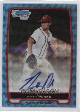 2012 Bowman - Chrome Prospects Certified Autographs - Blue Wave Refractor [Autographed] #BCP80 - Matt Purke /50