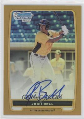 2012 Bowman - Chrome Prospects Certified Autographs - Gold Refractor [Autographed] #BCP79 - Josh Bell /50