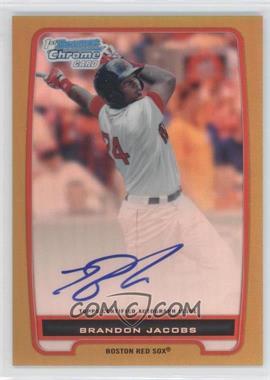 2012 Bowman - Chrome Prospects Certified Autographs - Gold Refractor [Autographed] #BCP93 - Brandon Jacobs /50