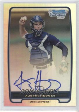2012 Bowman - Chrome Prospects Certified Autographs - Refractor #BCP89 - Austin Hedges /500