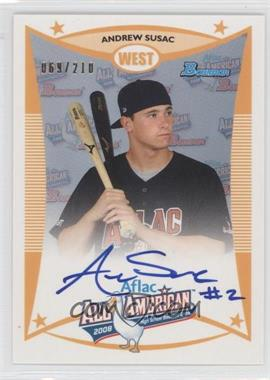 2012 Bowman Aflac All-American Certified Autographs [Autographed] #AFLAC-AS - Andrew Susac /210
