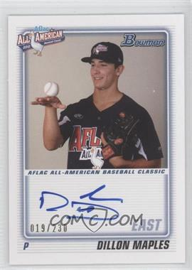 2012 Bowman Aflac All-American Certified Autographs [Autographed] #AFLAC-DM - Dillon Maples /230