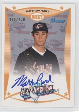 2012 Bowman Aflac All-American Certified Autographs [Autographed] #AFLAC-MP - Matt Purke /230
