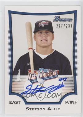 2012 Bowman Aflac All-American Certified Autographs [Autographed] #AFLAC-SA - Stetson Allie /230