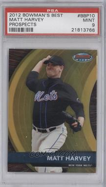 2012 Bowman Bowman's Best Prospects #BBP10 - Matt Harvey [PSA 9]