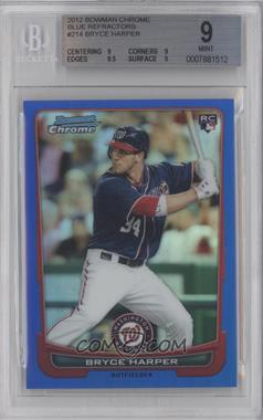 2012 Bowman Chrome - [Base] - Blue Refractor #214 - Bryce Harper /250 [BGS 9]