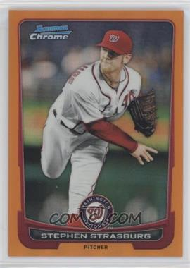 2012 Bowman Chrome - [Base] - Orange Refractor #154 - Stephen Strasburg /25