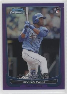 2012 Bowman Chrome - [Base] - Purple Refractor #115 - Irving Falu /199