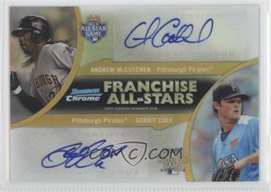 2012 Bowman Chrome - Franchise All-Stars - Certified Autographs [Autographed] #FAD-MC - Andrew McCutchen, Gerrit Cole /25