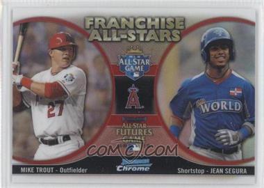 2012 Bowman Chrome - Franchise All-Stars #FAS-TS - Mike Trout, Jean Segura