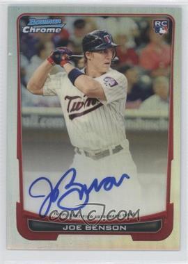 2012 Bowman Chrome - Rookie Certified Autographs - Refractor [Autographed] #215 - Joe Benson /500