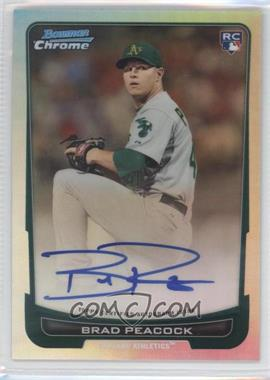 2012 Bowman Chrome - Rookie Certified Autographs - Refractor [Autographed] #216 - Brad Peacock /500