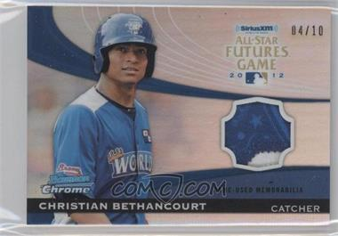 2012 Bowman Chrome All-Star Futures Game Materials #FGP-CB - Christian Bethancourt /10