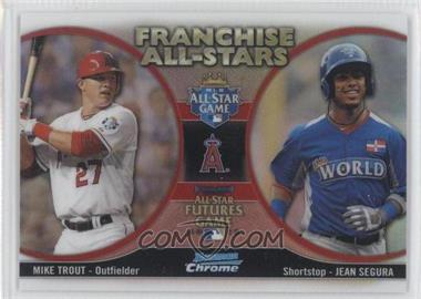 2012 Bowman Chrome Franchise All-Stars #FAS-TS - Mike Trout, Jean Segura