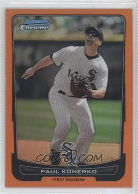 2012 Bowman Chrome Orange Refractor #122 - Paul Konerko /25