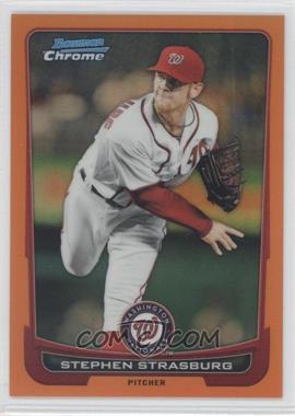 2012 Bowman Chrome Orange Refractor #154 - Stephen Strasburg /25