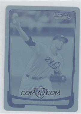 2012 Bowman Chrome Printing Plate Cyan #16 - David Price /1