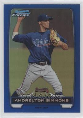 2012 Bowman Chrome Prospects Blue Refractor #BCP109 - Andrelton Simmons /250