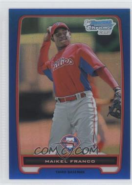 2012 Bowman Chrome Prospects Blue Refractor #BCP112 - Maikel Franco /250
