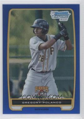 2012 Bowman Chrome Prospects Blue Refractor #BCP182 - Gregory Polanco /250
