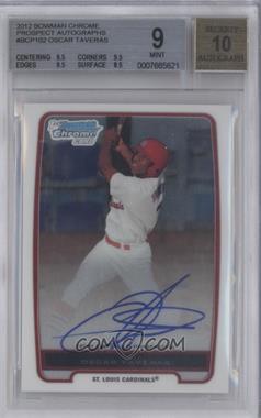 2012 Bowman Chrome Prospects Certified Autographs [Autographed] #BCP102 - Oscar Taveras [BGS9]