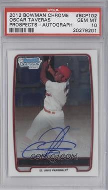 2012 Bowman Chrome Prospects Certified Autographs [Autographed] #BCP102 - Oscar Taveras [PSA10]