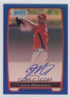 2012 Bowman Chrome Prospects Certified Autographs Blue Refractor [Autographed] #BCP101 - Julio Rodriguez /150