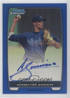 2012 Bowman Chrome Prospects Certified Autographs Blue Refractor [Autographed] #BCP109 - Andrelton Simmons /150