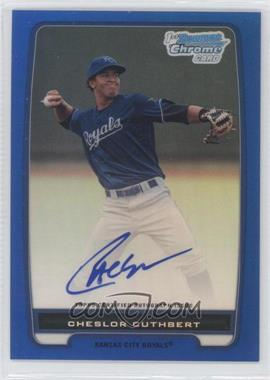 2012 Bowman Chrome Prospects Certified Autographs Blue Refractor [Autographed] #BCP58 - Cheslor Cuthbert /150