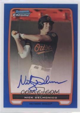 2012 Bowman Chrome Prospects Certified Autographs Blue Refractor [Autographed] #BCP92 - Nick Delmonico /150
