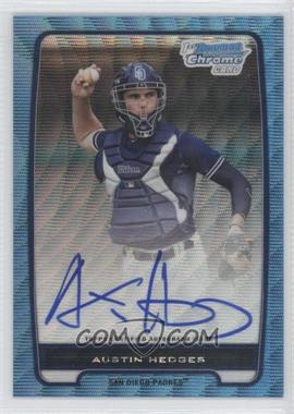 2012 Bowman Chrome Prospects Certified Autographs Blue Wave Refractor [Autographed] #BCP89 - Austin Hedges /50
