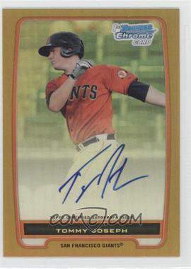 2012 Bowman Chrome Prospects Certified Autographs Gold Refractor [Autographed] #BCP100 - Tommy Joseph /50