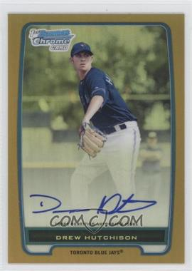 2012 Bowman Chrome Prospects Certified Autographs Gold Refractor [Autographed] #BCP103 - Drew Hutchison /50