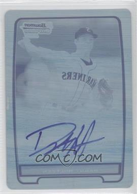 2012 Bowman Chrome Prospects Certified Autographs Printing Plate Cyan [Autographed] #BCP87 - Danny Hultzen /1