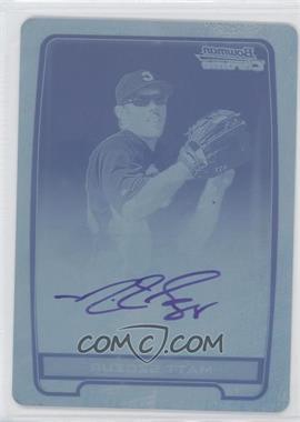 2012 Bowman Chrome Prospects Certified Autographs Printing Plate Cyan [Autographed] #MS - Matt Szczur /1