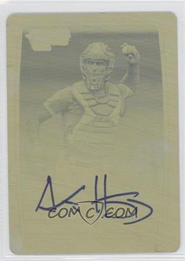 2012 Bowman Chrome Prospects Certified Autographs Printing Plate Yellow [Autographed] #89 - Austin Hedges /1
