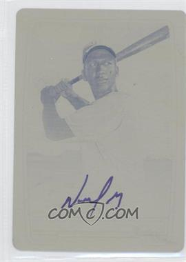 2012 Bowman Chrome Prospects Certified Autographs Printing Plate Yellow [Autographed] #NM - Nomar Mazara /1