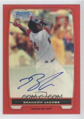 2012 Bowman Chrome Prospects Certified Autographs Red Refractor [Autographed] #BCP93 - Brandon Jacobs /5
