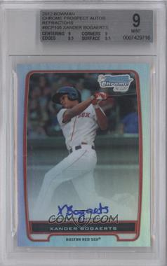 2012 Bowman Chrome Prospects Certified Autographs Refractor #BCP105 - Xander Bogaerts /500 [BGS 9]