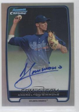 2012 Bowman Chrome Prospects Certified Autographs Refractor #BCP109 - Andrelton Simmons /500