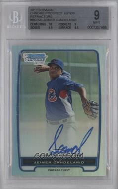 2012 Bowman Chrome Prospects Certified Autographs Refractor #BCP20 - Jeimer Candelario /500 [BGS 9]